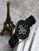 ราคาถูก นาฬิกาข้อมือสายหนัง-สำหรับผู้หญิง นาฬิกาแฟชั่น นาฬิกาอิเล็กทรอนิกส์ (Quartz) หนัง ดำ / สีขาว / สีชมพู ระบบอนาล็อก ไม่เป็นทางการ - สีดำ ฟ้า สีชมพู