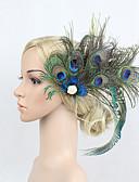 billige Hatter til damer-Vintage 1920s Den store Gatsby Strass / Fjær / Legering blomster / Hodeplagg / Hårklipp med Blomster 1pc Spesiell Leilighet Hodeplagg