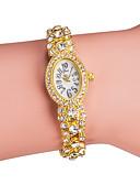 ราคาถูก นาฬิกาข้อมือ-สำหรับผู้หญิง นาฬิกาหรู นาฬิกาสร้อยข้อมือ นาฬิกาเพชร ญี่ปุ่น นาฬิกาอิเล็กทรอนิกส์ (Quartz) เงิน / ทอง เลียนแบบเพชร ระบบอนาล็อก สุภาพสตรี วิบวับ แฟชั่น สง่างาม - สีทอง สีเงิน