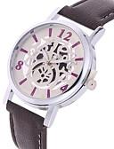 ราคาถูก นาฬิกาสำหรับผู้ชาย-สำหรับผู้หญิง นาฬิกาแฟชั่น นาฬิกาอิเล็กทรอนิกส์ (Quartz) หนัง วงดนตรี ดำ