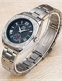 ราคาถูก นาฬิกาข้อมือสายหนัง-สำหรับผู้หญิง นาฬิกาแฟชั่น จำลอง Diamond Watch นาฬิกาอิเล็กทรอนิกส์ (Quartz) เงิน ระบบอนาล็อก ไม่เป็นทางการ - ขาว สีดำ สีชมพู