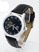 ราคาถูก นาฬิกาข้อมือแฟชั่น-สำหรับผู้ชาย นาฬิกาแฟชั่น นาฬิกาอิเล็กทรอนิกส์ (Quartz) หนัง ดำ ระบบอนาล็อก สีดำและสีทอง ทอง / สีขาว