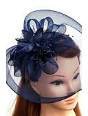 ราคาถูก ที่คาดผมสตรี-ตูเล่ / ขนนก / สุทธิ fascinators / หมวก / ฮารด์แวร์ กับ ดอกไม้ 1pc งานแต่งงาน / โอกาสพิเศษ หูฟัง