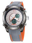 ราคาถูก นาฬิกากีฬา-ASJ สำหรับผู้ชาย นาฬิกาข้อมือ ญี่ปุ่น นาฬิกาอิเล็กทรอนิกส์ (Quartz) ดิจิตอล ยางทำจากซิลิคอน ดำ / ออเรนจ์ / เทา 30 m กันน้ำ ปฏิทิน เรืองแสง อะนาล็อก-ดิจิตอล ความหรูหรา ไม่เป็นทางการ แฟชั่น -  / สองปี