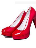 ราคาถูก เครื่องประดับผมผู้หญิง-สำหรับผู้หญิง รองเท้าส้นสูง ส้น Stiletto ปลายกลม ข้อต่อ PU รองเท้าคอมแบท / รองเท้าคลับ วสำหรับเดิน ตก / ฤดูหนาว สีดำ / ผ้าขนสัตว์สีธรรมชาติ / แดง / 3-4