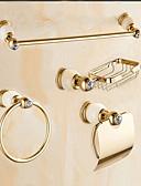 billige Etuier/deksler til Huawei-Tilbehørssett til badeværelset Moderne Messing Vægophængt