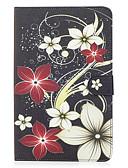billige Samsung Case-Etui Til Samsung Galaxy Tab E 9.6 Lommebok / Kortholder / med stativ Heldekkende etui Blomsternål i krystall Hard PU Leather