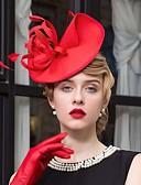 ราคาถูก ที่คาดผมสตรี-ขนนก / ผ้า Kentucky Derby Hat / fascinators / หมวก กับ 1 งานแต่งงาน / โอกาสพิเศษ / ที่มา หูฟัง