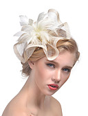ราคาถูก ที่คาดผมสตรี-สำหรับผู้หญิง หมวก Tömör szín ตาข่าย อะคริลิค ขนนก ปาร์ตี้