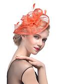 baratos Acessórios Masculinos-Tule / Pena Chapéu de Kentucky Derby / Fascinadores / Decoração de Cabelo com Floral 1pç Casamento / Ocasião Especial Capacete