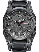 ราคาถูก นาฬิกาข้อมือสายหนัง-CURREN สำหรับผู้ชาย นาฬิกาข้อมือ สายการบิน นาฬิกาล่าสัตว์ ญี่ปุ่น หนังแท้ ดำ / น้ำตาล / กากี ปฏิทิน Creative เท่ห์ ระบบอนาล็อก เสน่ห์ ความหรูหรา วินเทจ ไม่เป็นทางการ โบฮีเมียน - กาแฟ สีน้ำตาล แดง