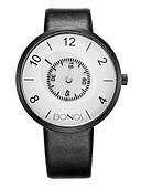 ราคาถูก นาฬิกาข้อมือแฟชั่น-สำหรับผู้ชาย นาฬิกาแฟชั่น นาฬิกาอิเล็กทรอนิกส์ (Quartz) หนัง PU Leather ดำ 30 m ระบบอนาล็อก สีทอง ขาว