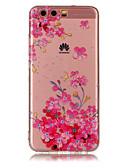 ราคาถูก เคสสำหรับ iPhone-Case สำหรับ หัวเว่ย P9 Lite / Huawei / หัวเว่ย P8 Lite P10 Lite / P10 / Huawei P9 Lite IMD / Transparent / Pattern ปกหลัง ดอกไม้ Soft TPU