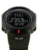 ราคาถูก นาฬิกาดิจิทัล-SKMEI สำหรับผู้ชาย นาฬิกาแนวสปอร์ต นาฬิกาทหาร นาฬิกาข้อมือ ญี่ปุ่น ดิจิตอล ยางทำจากซิลิคอน ดำ / เขียว 50 m กันน้ำ นาฬิกาปลุก ปฏิทิน ดิจิตอล แฟชั่น - สีดำ สีเขียว สองปี อายุการใช้งานแบตเตอรี่