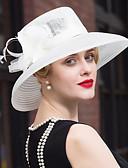 baratos Vestidos para as Mães dos Noivos-Penas Tule Linho Capacete-Casamento Ocasião Especial Casual Fascinador Chapéus 1 Peça