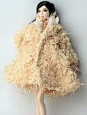 povoljno Maske za mobitele-Dodaci za lutke Haljina za lutke Ležerne prilike Za Barbie Poliester Flis Kaput Za Djevojka je Doll igračkama