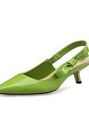 ราคาถูก เครื่องประดับสำหรับเด็ก-สำหรับผู้หญิง รองเท้าส้นสูง ส้น Stiletto Pointed Toe หนังสิทธิบัตร / Microfibre ความสะดวกสบาย / ความแปลก สีดำ / แดง / สีเขียว / พรรคและเย็น / พรรคและเย็น