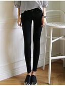 baratos Calças Femininas-Mulheres Moda de Rua Diário Justas / Skinny / Chinos Calças - Sólido Preto Azul 26 27 28