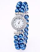 ราคาถูก นาฬิกาข้อมือ-สำหรับผู้หญิง นาฬิกาสร้อยข้อมือ นาฬิกาเพชร นาฬิกาอิเล็กทรอนิกส์ (Quartz) สีขาว / แดง / สีชมพู นาฬิกาใส่ลำลอง ระบบอนาล็อก สุภาพสตรี สง่างาม - แดง สีชมพู Blue ดำด้าน หนึ่งปี อายุการใช้งานแบตเตอรี่