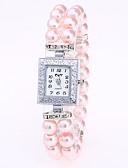 ราคาถูก นาฬิกาข้อมือ-สำหรับผู้หญิง นาฬิกาสร้อยข้อมือ นาฬิกาอิเล็กทรอนิกส์ (Quartz) สีขาว / แดง / สีชมพู นาฬิกาใส่ลำลอง ระบบอนาล็อก สุภาพสตรี Pearls - น้ำเงินเข้ม แดง สีชมพู หนึ่งปี อายุการใช้งานแบตเตอรี่ / Jinli 377