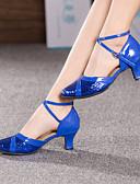 ราคาถูก เสื้อคลุมและชุดนอน-สำหรับผู้หญิง รองเท้าเต้นรำ โมเดอร์น Splicing ส้น ส้นแบบกำหนดเอง ตัดเฉพาะได้ แดง / ฟ้า / สีชมพู / ในที่ร่ม / EU39