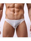 ราคาถูก ชุดลำลองชาย-สำหรับผู้ชาย สีพื้น - ซูเปอร์เซ็กซี่ กางเกงใน 1 ชิ้น