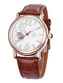 זול שעונים מכאניים-בגדי ריקוד נשים שעון מכני קווארץ עור שחור / חום / ורוד 30 m מכירה חמה אנלוגי נשים קסם אופנתי - חום ורוד שחור / לבן