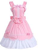 povoljno Lolita moda-Princeza Sweet Lolita Haljine JSK / Jumper suknja Žene Djevojčice Pamuk Japanski Cosplay Kostimi Pink Jednobojni Bez rukávů Do koljena