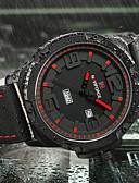 ราคาถูก นาฬิกาดิจิทัล-NAVIFORCE สำหรับผู้ชาย นาฬิกาแนวสปอร์ต นาฬิกาทหาร นาฬิกาข้อมือ ญี่ปุ่น นาฬิกาอิเล็กทรอนิกส์ (Quartz) ยางทำจากซิลิคอน ดำ / น้ำตาล 30 m ปฏิทิน Creative เท่ห์ ระบบอนาล็อก / ปุ่มหมุนขนาดใหญ่