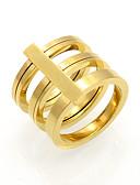 Χαμηλού Κόστους Quartz Ρολόγια-Ανδρικά Γυναικεία Band Ring Δακτύλιος Δήλωσης Δαχτυλίδι Χρυσό Ασημί 18Κ Επίχρυσο Τιτάνιο Ατσάλι Κυκλικό Geometric Shape Εξατομικευόμενο Geometric Μοναδικό Γάμου Πάρτι Κοσμήματα