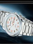 ราคาถูก นาฬิกาข้อมือแฟชั่น-สำหรับผู้ชาย นาฬิกาแฟชั่น นาฬิกาอิเล็กทรอนิกส์ (Quartz) เงิน ระบบอนาล็อก ไม่เป็นทางการ - สีดำ สีฟ้า Rose Gold