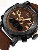 ราคาถูก Special Occasion Dresses-สำหรับผู้ชาย นาฬิกาข้อมือ จีน ปฏิทิน / กันน้ำ / Creative หนังแท้ วงดนตรี ความหรูหรา / ไม่เป็นทางการ / แฟชั่น ดำ / น้ำตาล / Maxell2025