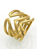 Χαμηλού Κόστους Quartz Ρολόγια-Ανδρικά Γυναικεία Band Ring Δακτύλιος Δήλωσης Δαχτυλίδι Χρυσό Ασημί 18Κ Επίχρυσο Τιτάνιο Ατσάλι Κυκλικό Geometric Shape Taper Shape Εξατομικευόμενο Geometric Μοναδικό Γάμου Πάρτι Κοσμήματα