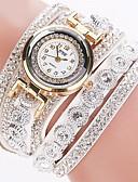 Χαμηλού Κόστους Quartz Ρολόγια-Γυναικεία κυρίες Πολυτελή Ρολόγια Βραχιόλι Ρολόι Diamond Watch Χαλαζίας Wrap Δέρμα Μαύρο / Λευκή / Ασημί απομίμηση διαμαντιών Αναλογικό Λάμψη Μοντέρνα Bling Bling - Ροζ Μπλε Απαλό Χακί / Ενας χρόνος