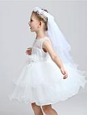 ราคาถูก ม่านสำหรับงานแต่งงาน-Two-tier ตัดมุม ผ้าคลุมหน้าชุดแต่งงาน Communion Veils กับ เข็มกลัด Tulle / คลาสสิก