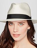 ราคาถูก หมวกสตรี-สำหรับผู้หญิง สีพื้น ผ้าลินิน Microfiber Pure Color,หมวก วินเทจ คลาสสิกและถาวร-ดวงอาทิตย์หมวก ฤดูใบไม้ผลิ ฤดูร้อน ขาว ผ้าขนสัตว์สีธรรมชาติ