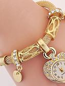 baratos Relógios de quartzo-Mulheres Relógio de Moda Bracele Relógio Relógio de Pulso Digital Metal Prata / Dourada Analógico Prata Dourado