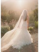 Χαμηλού Κόστους Πέπλα Γάμου-Μίας Βαθμίδας Χωρίς τελείωμα Πέπλα Γάμου Μακριά Πέπλα με Χτένα Λουλουδιών Τούλι / Στυλ Αγγέλου / Καταρράκτης