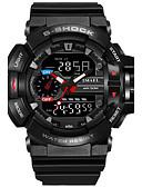 Χαμηλού Κόστους Ψηφιακά Ρολόγια-SMAEL Ανδρικά Αθλητικό Ρολόι Στρατιωτικό Ρολόι Ψηφιακό ρολόι Ιαπωνικά Ψηφιακή Συνθετικό δέρμα με επένδυση σιλικόνη Μαύρο / Κόκκινο / Πορτοκαλί 50 m Ανθεκτικό στο Νερό Ημερολόγιο Χρονογράφος