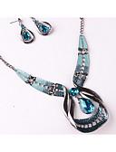 billiga Herrtröjor-Dam Smycken Set Unik design örhängen Smycken Blå Till Bröllop Party Speciellt Tillfälle Årsdag Födelsedag