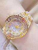 povoljno Kvarcni satovi-Žene Luksuzni sat Ručni satovi s mehanizmom za navijanje Diamond Watch Nehrđajući čelik Srebro / Zlatna Vodootpornost Kronograf Kreativan Analog dame Simulirani Diamond Watch Elegantno Bling Bling -