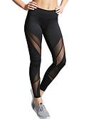 baratos Leggings para Mulheres-Mulheres Diário / Para Noite Sexy Esportivo Legging - Sólido, Com Transparência Cintura Média Preto M L XL / Skinny