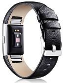 baratos Bandas de Smartwatch-Pulseiras de Relógio para Fitbit Charge 2 Fitbit Fecho Clássico Couro Tira de Pulso