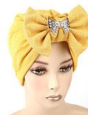 ราคาถูก หมวกสตรี-สำหรับผู้หญิง สีพื้น ฝ้าย โบว์,หมวก ดอกไม้-หมวกปีกกว้าง ฤดูใบไม้ผลิ & ฤดูใบไม้ร่วง ฤดูร้อน สีดำ ไวน์ ขาว