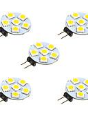 billiga Skärmskydd till Huawei-5pcs 1 W LED-lampor med G-sockel 68 lm G4 6 LED-pärlor SMD 5050 Varmvit Vit 12 V / 5 st