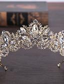 ราคาถูก ม่านสำหรับงานแต่งงาน-ทองเหลือง / ไข่มุกเทียม tiaras กับ 1 งานแต่งงาน / วันครบรอบ / วันเกิด หูฟัง