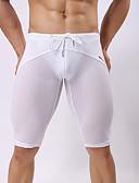 ราคาถูก เลกกิ้ง-สำหรับผู้ชาย ตาข่าย กีฬา โบว์ ขาว สีดำ สีเทา Board Shorts กางเกงว่ายน้ำ ชุดว่ายน้ำ - สีพื้น M L XL ขาว / เอวต่ำ