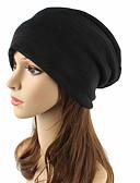 ราคาถูก หมวกสตรี-ทุกเพศ สีพื้น ฝ้าย Pure Color,ฮารด์แวร์ เก๋ไก๋และทันสมัย ชุดถักด้วยไหมพรม-หมวกหย่อน หมวกปีกกว้าง ตก ฤดูหนาว สีดำ สีน้ำตาล สีเทา / น่ารัก