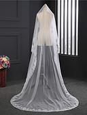 ราคาถูก ม่านสำหรับงานแต่งงาน-ชั้นเดียว แช่ปิด ผ้าคลุมหน้าชุดแต่งงาน กับ เข็มกลัด Tulle / คลาสสิก