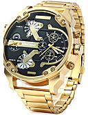 ราคาถูก เบลเซอร์ &สูทผู้ชาย-สำหรับผู้ชาย นาฬิกาทหาร นาฬิกาทอง สายการบิน สแตนเลส ดำ / ทอง ปฏิทิน Creative แสดงสองเวลา ระบบอนาล็อก เสน่ห์ ความหรูหรา ไม่เป็นทางการ แฟชั่น - สีดำและสีทอง ดำ / น้ำเงิน White / Gold / หนึ่งปี